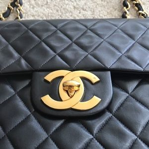 8e31deadd24f CHANEL Bags | Vintage Maxi Flap Bag 24 K Plated Gold | Poshmark
